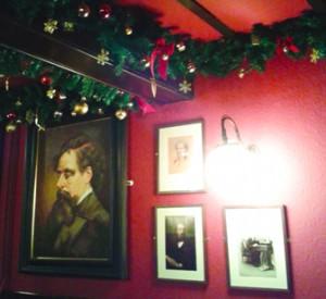 Wall at the Grapes Pub